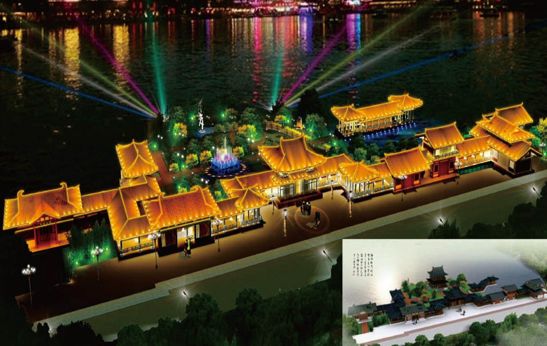 莲湖公园夜景亮化